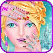 冰公主美甲沙龙女孩游戏