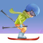 冰滑雪比赛冠军亲