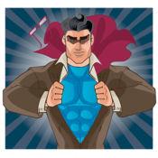 男子超級英雄著色書孩子 1.2
