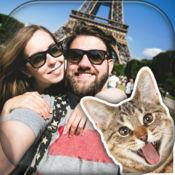 搞笑猫的照片炸彈 – 制作可爱的猫咪邮票真棒图片 1