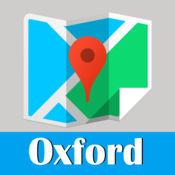 牛津旅游指南地鐵火車全球定位零流量英國地圖  Oxford metro tube map guide