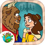 美女と野獣经典童话故事画画拼图游戏