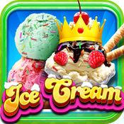 """""""A +我的新圣代冰淇淋制造商免费 - 无尽的蛋卷冰淇淋造物主学习游戏"""