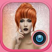 发色换片照片 – 美女展台图片以效果理发改造 1.1