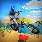 疯狂的海滩自行车特技模拟