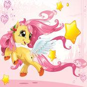 有趣的教育公主拼图在仙境年轻女孩的粉红色!