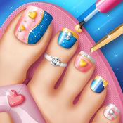脚指甲游戏为时尚女孩 - 美甲沙龙