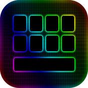 LED 键盘 创造者 - 多彩 键盘 主题 同 霓虹灯 背景 和 字形