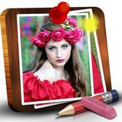 上乱写乱画的照片工具 – 油漆和借鉴上的图片并添加草图和
