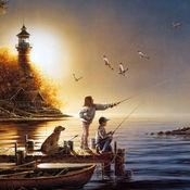 钓鱼主题设计图...