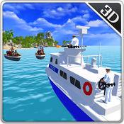 海军警察机动船攻击 - 海军战争游戏