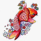 日本锦鲤鱼高清...