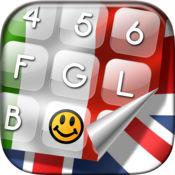 国际 标志 键盘 - 背景 漂亮,字体 与 世界 各国 国旗