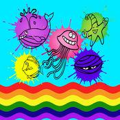 海洋动物彩图游戏为孩子 1
