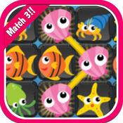海洋动物匹配3脑匹配游戏