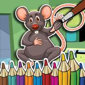 鼠標著色孩子的鼠標鍵拼圖