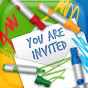 邀请卡设计 – 创建电子贺卡对于生日派对和婚礼 1