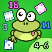 4-6岁的小朋友学习数字1-20幼儿园,学前班或幼儿园的教育游戏
