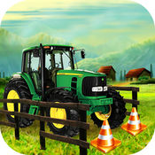 农场 拖拉机 停車處 驱动程序 - 3d