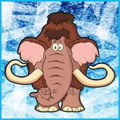 发现冰河时期的动物匹配的可爱的卡通益智游戏卡