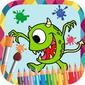 怪物和机器人作画 - 图画书来画画幻想怪物和机器人图片