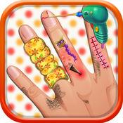 手指外科医生 - 与友好的家庭医生和一个可爱的小医院为孩子们最好的外科医生游戏