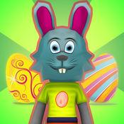 复活节兔子彩虹...