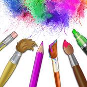绘画台 - 涂鸦油漆,绘图板,素描书