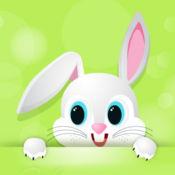 可愛的兔子著色繪畫書為孩子