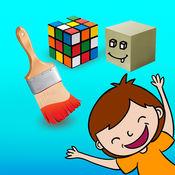蒙特梭利的颜色和形状, 一个教育游戏,为幼儿学习的颜色和形