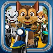动物小狗体育自行车 – 赛车游戏与宠物狗为孩子们 Bike Racing