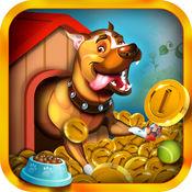 可爱小狗推银金币街机游戏