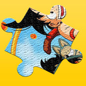 龙拼图的游戏免费的孩子和幼儿园 - 卡通超级英雄拼图方块