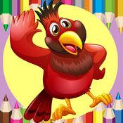 可爱的小鸟着色书
