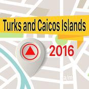 特克斯和凯科斯群岛 离线地图导航和指南 1