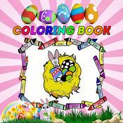 复活节彩蛋着色页复活节兔子跟踪仪.