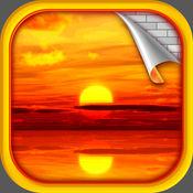 日落 桌面壁纸 - 美丽 的夕阳 背景 对于 iPhone 和 iPad的
