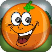 橙色降突击 - 不要摔落水果生存游戏