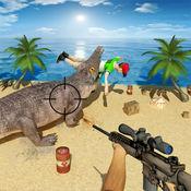 鳄鱼狩猎 - 射击饥饿的鳄鱼