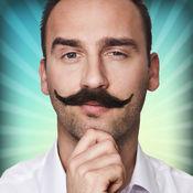 小胡子滑稽照片贴纸合成照片 - 虚拟理发店 照片效果 - 创建 滑稽 图片和 转变脸 最 相机应用