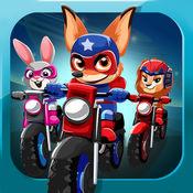 Racing Bikes. 比賽為孩子們的遊戲 超級英雄寵物比賽 超級自行車賽車遊戲