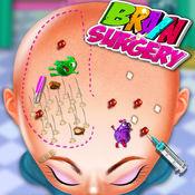 疯狂的外科脑手术模拟器医生游戏