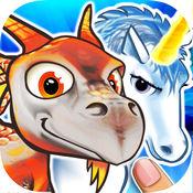 小龙的困惑与独角兽的益智游戏集合为孩子和幼儿