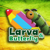 幼虫和蝴蝶,臭虫着色游戏 1