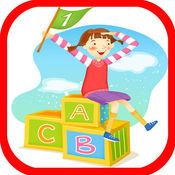學習ABC孩子A-Z英語單詞步驟