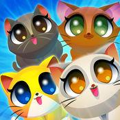 Cute Cats Match-4. 可爱的小猫冒险 连接4只猫