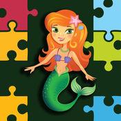 可爱的美人鱼拼图的小孩子 1