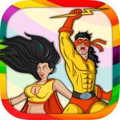 超级英雄绘画本 - 填色涂色画册
