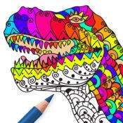 恐龙 游戏 著色: 成人 著色 本