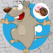可爱的米老鼠和蛋糕拼图